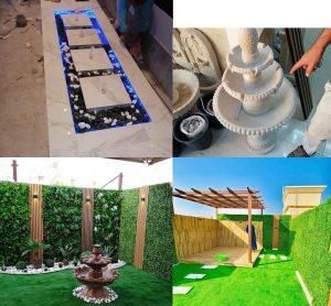 تنسيق حدائق مزلية بحائل